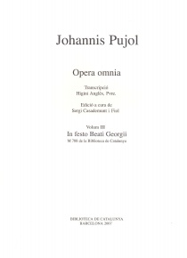 Johannis Pujol. Opera omnia vol. III - In Festo Beati Georgii