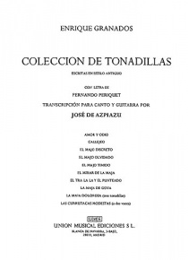 Colección de tonadillas al estilo antiguo (voice and guitar)