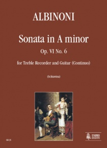 Sonata in A min Op. VI No. 6 for Treble Recorder and Guitar (Continuo), de Tomaso Albinoni