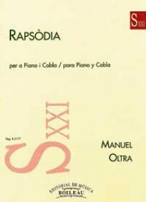 Rapsodia. Piano y cobla, de Manuel Oltra