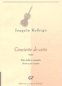 Concierto de estío (partitura para orquesta)
