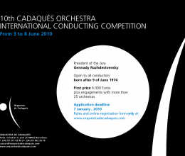 Opening of the application period for participation in the Cadaqués Orchestra International Conducting Competition