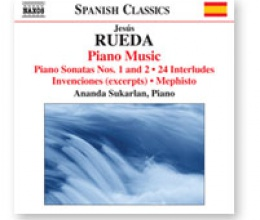 Piano works by Jesús Rueda, a novelty from Naxos in September