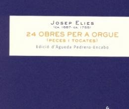 24 obras para órgano de Josep Elies
