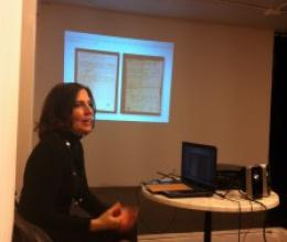 Tess Knighton i Cecilia Nocilli a la presentació del llibre