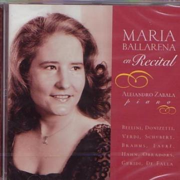 Maria Ballarena en recital