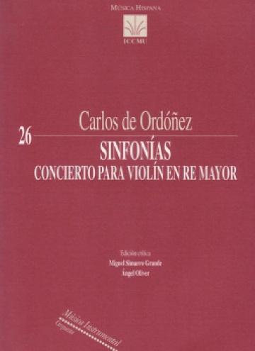 Sinfonías. Concierto para violín en Re Mayor
