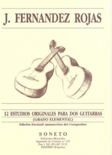 12 Estudios originales para dos guitarras