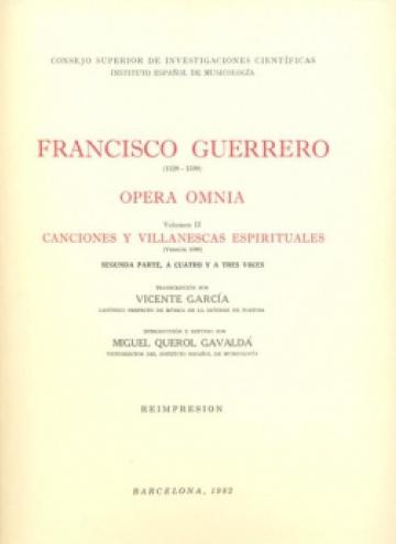 Opera Omnia vol. II (Canciones y villanescas espirituales)