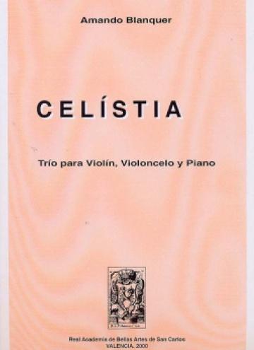Celístia, trío para violín, violonchelo y piano