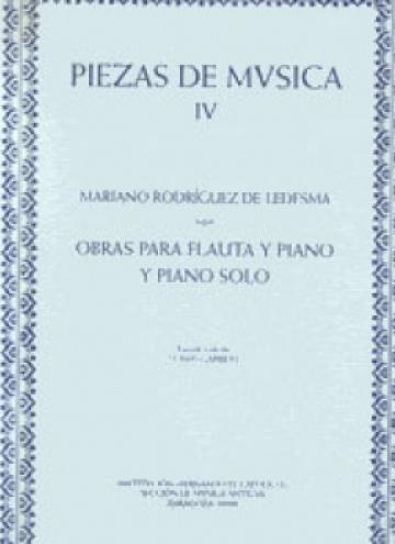 Obras para flauta y piano y piano solo