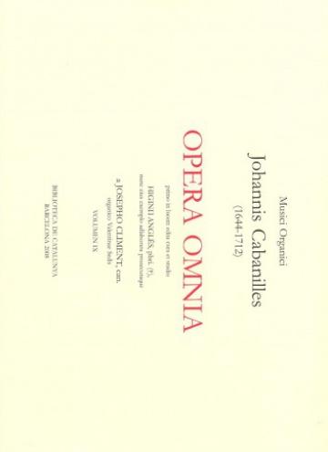 Opera omnia - vol. IX