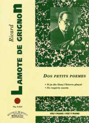 2 Petits poemes, by Ricard Lamote De Grignon