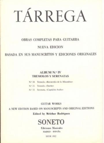 Obras completas para guitarra. Album nº3, Tremolos y serenatas