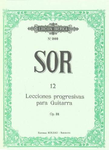 12 Progressive lessons for guitar, op.31