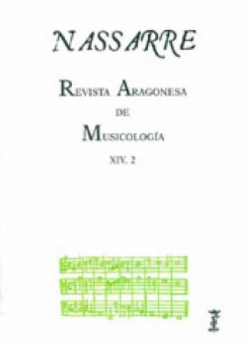 Nassarre. Revista Aragonesa de Musicología, XIV, 2