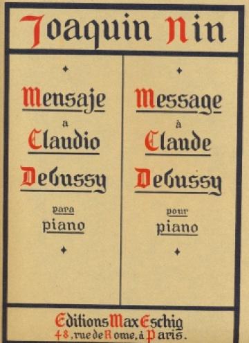Méssage à Claude Debussy