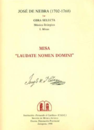 Missa «Laudate nomen Domini» a 8 voces, violines, viola y bajo continuo