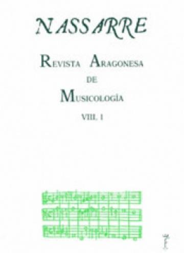 Nassarre. Revista Aragonesa de Musicología, VIII, 1