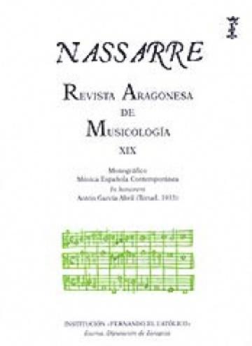 Nassarre. Revista Aragonesa de Musicología, XIX