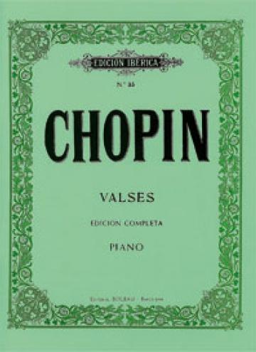 Valses. Ed.Completa, de Frédéric Chopin