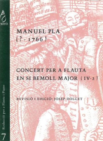 Concert per a flauta en Si bemoll major (IV-2) (reducció per a flauta i piano)