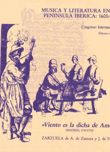 Viento de dicha es amor:Zarzuela en dos. (libreto)