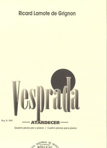 Vesprada (Four pieces for piano)