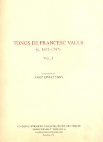 Tonos de Francesc Valls vol. I