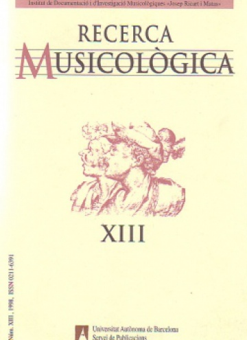 Musicological Research XIII