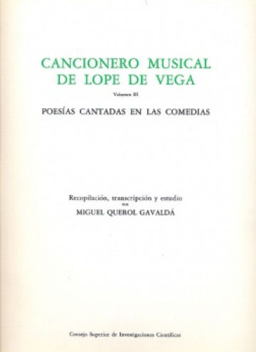 Cancionero Musical de Lope de Vega Vol. III