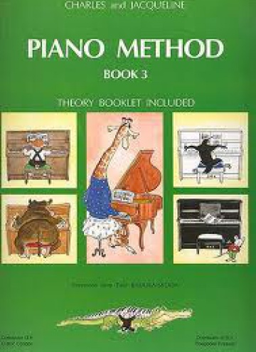 Piano method book 3 (theory booklet included)
