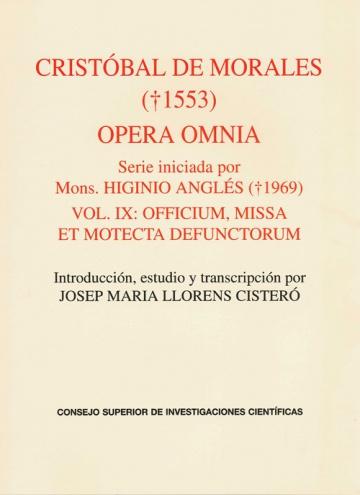 Opera omnia vol IX. Officium, Missa et Motecta defunctorum