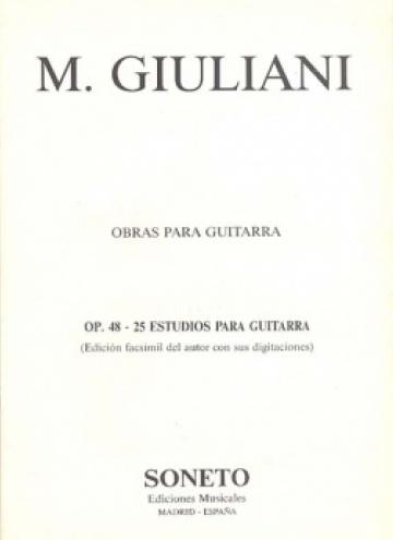 Vint-i-cinc estudis per a guitarra, op. 48