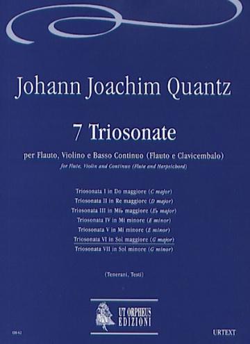 7 Triosonatas for Flute, Violin and Continuo (Flute and Harpsichord), de Johann Joachim Quantz