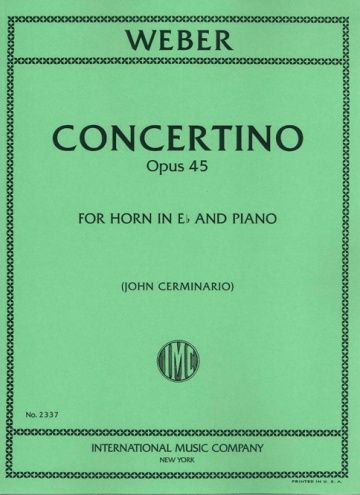 Concertino op. 45 for horn and piano