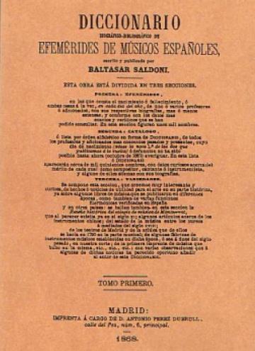 Diccionario de efemérides de músicos españoles (cuatro tomos)
