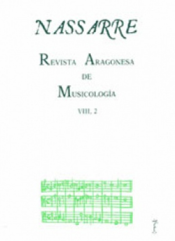 Nassarre. Revista Aragonesa de Musicología, VIII, 2