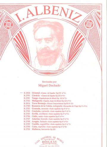 Oriental, de Cantos de España, op.232, núm.2