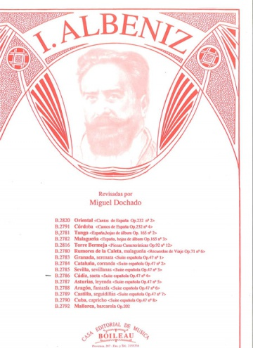 Cádiz, de la Suite española, op.47, núm.4