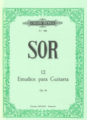 12 Studies for guitar, op.60