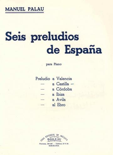 Seis Preludios de España. Castilla