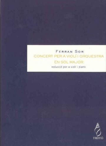 Concierto para violín en Sol mayor (reducción)