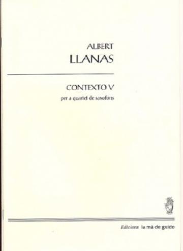 Contexto V for saxophone quartet