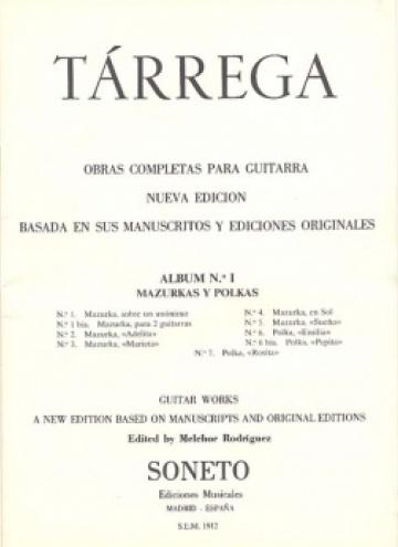 Obras completas para guitarra. Album nº1, Mazurcas y polcas