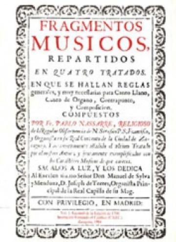 Fragmentos músicos (1683, 1700), I: facsímil
