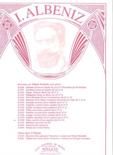 Cuba, de la Suite española, op.47, nº 8