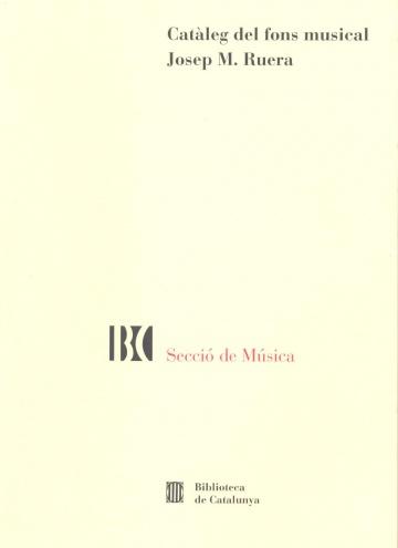 Catàleg del fons musical Josep M. Ruera