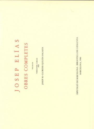 Obres Completes - Volum II B