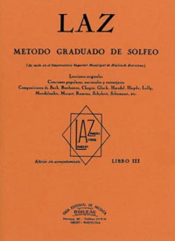 LAZ, Método de Solfeo Vol.3º, de Lambert/Alfonso/Zamacois